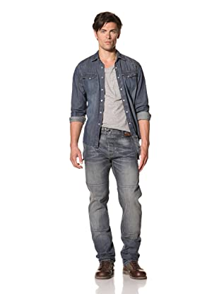 Madison Park Men's Fireman Pants (Denim)