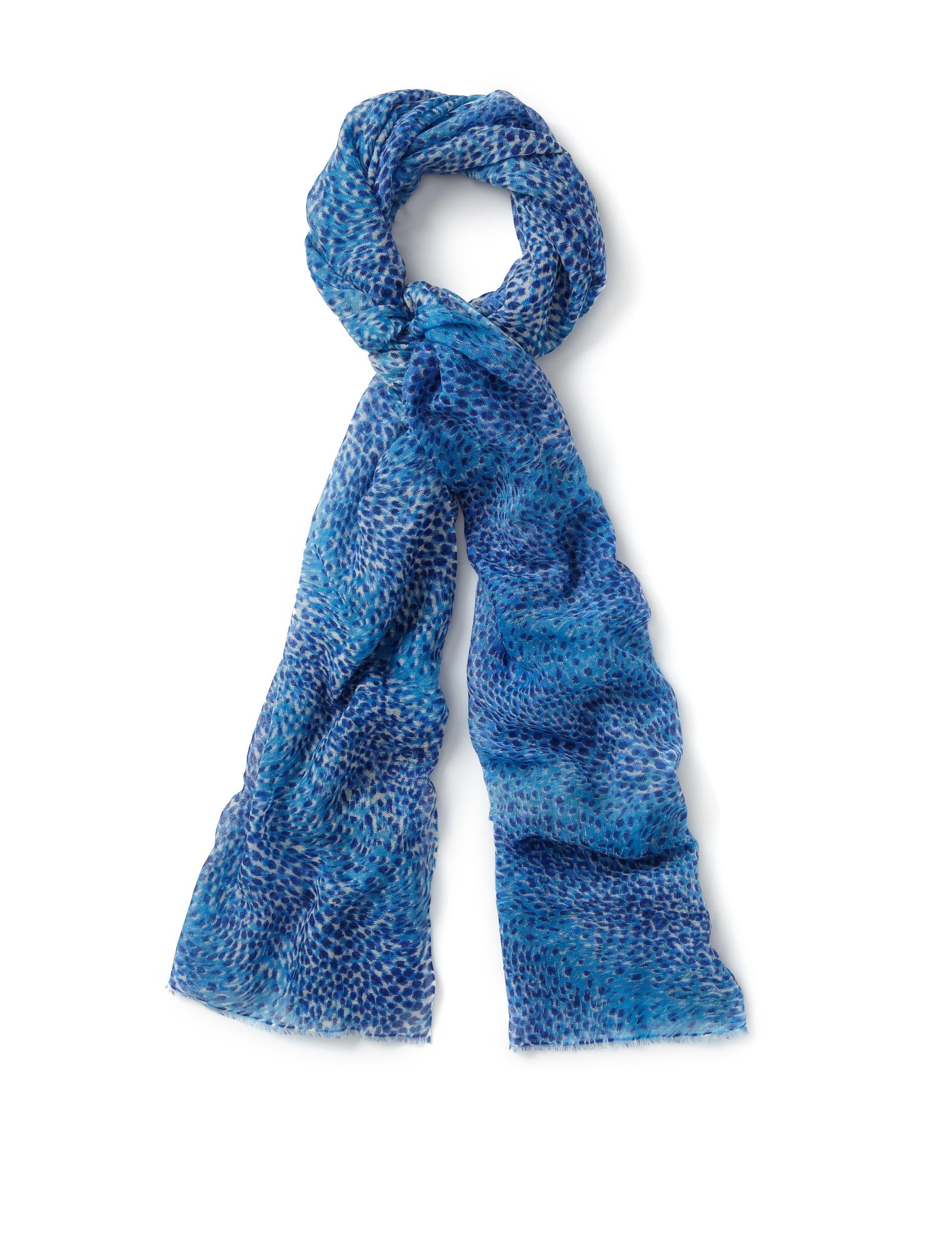 Bajra Scarves Women's Blue Animal Print Scarf (Blue)