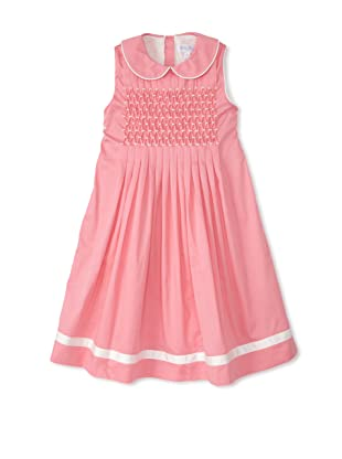 Rachel Riley Girl's Pleated Smock Dress (Blush Pink)