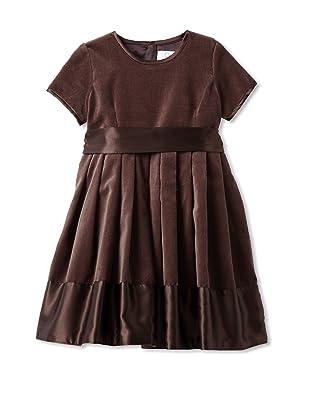 Baby CZ Girl's Grace Velvet Dress (Teak)