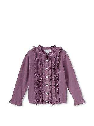 Rachel Riley Girl's Frill Cardigan (Purple)