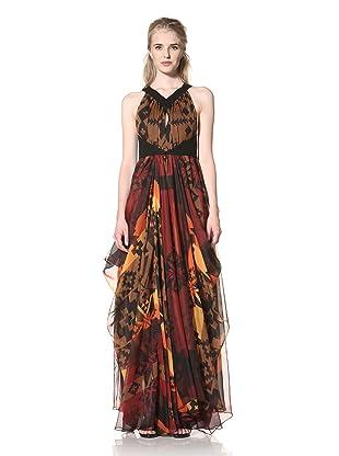 L.A.M.B. Women's Navajo Printed Maxi Dress (Multi)