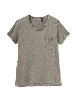 Joe's Jeans Girl's Short Sleeve Scoop Neck Tee (Olive)
