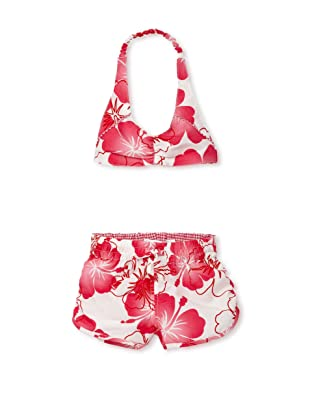 TroiZenfants Girl's Hawaii 2-Piece Swimsuit (Pink)
