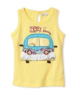 Le Petit Pumm Girl's Car Keyhole Tank (Yellow)