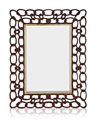 Charleston Chain Link Mirror (Dark Walnut)