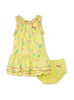 PUMA - Kids Baby Girl's 2-Piece Logo Dress Set (Lime Light)
