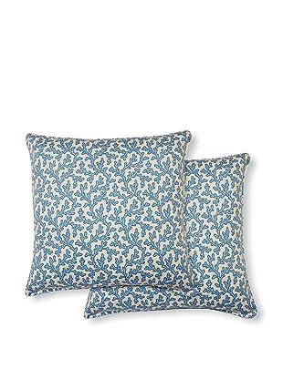 Dakota Set of 2 Coral Bay Pillows (Blue)