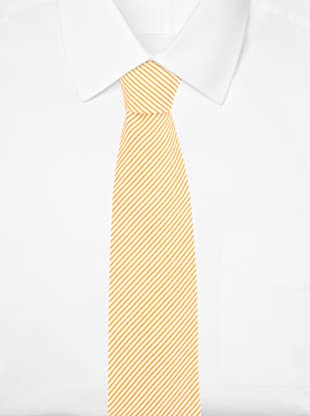 E.Tautz Men's Lindsay Tie (Orange/White)