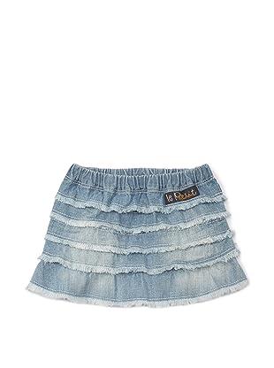 Le Petit Pumm Girl's Denim Ruffle Skirt (Indigo)