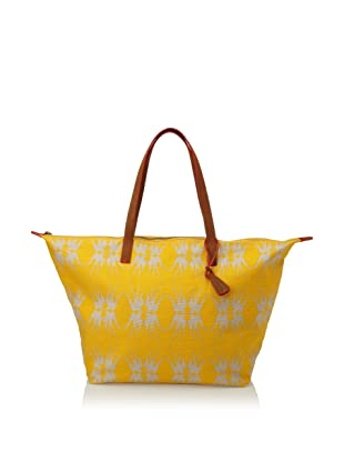 Loquita Women's Birds Zip Tote (Yellow)