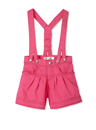TroiZenfants Girl's Shorts with Snap Suspenders (Pink)