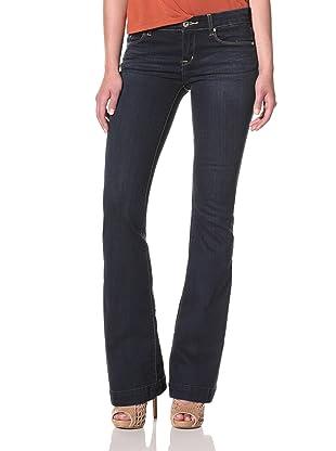 [BLANKNYC] Women's Trogan Wash Flare Jeans (Med Blue)
