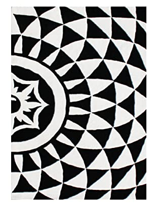 Horizon Alliyah Collection Bold Geo Rug (Off-White/Black)