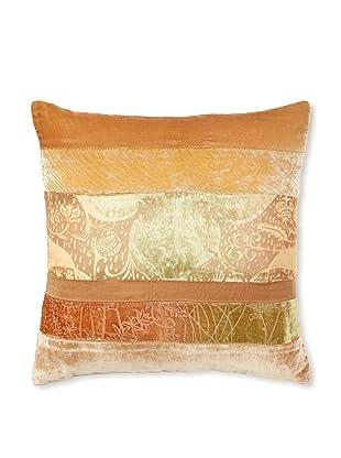 Kevin O'Brien Studio Patchwork Velvet Pillow, Burnt Sage, 16