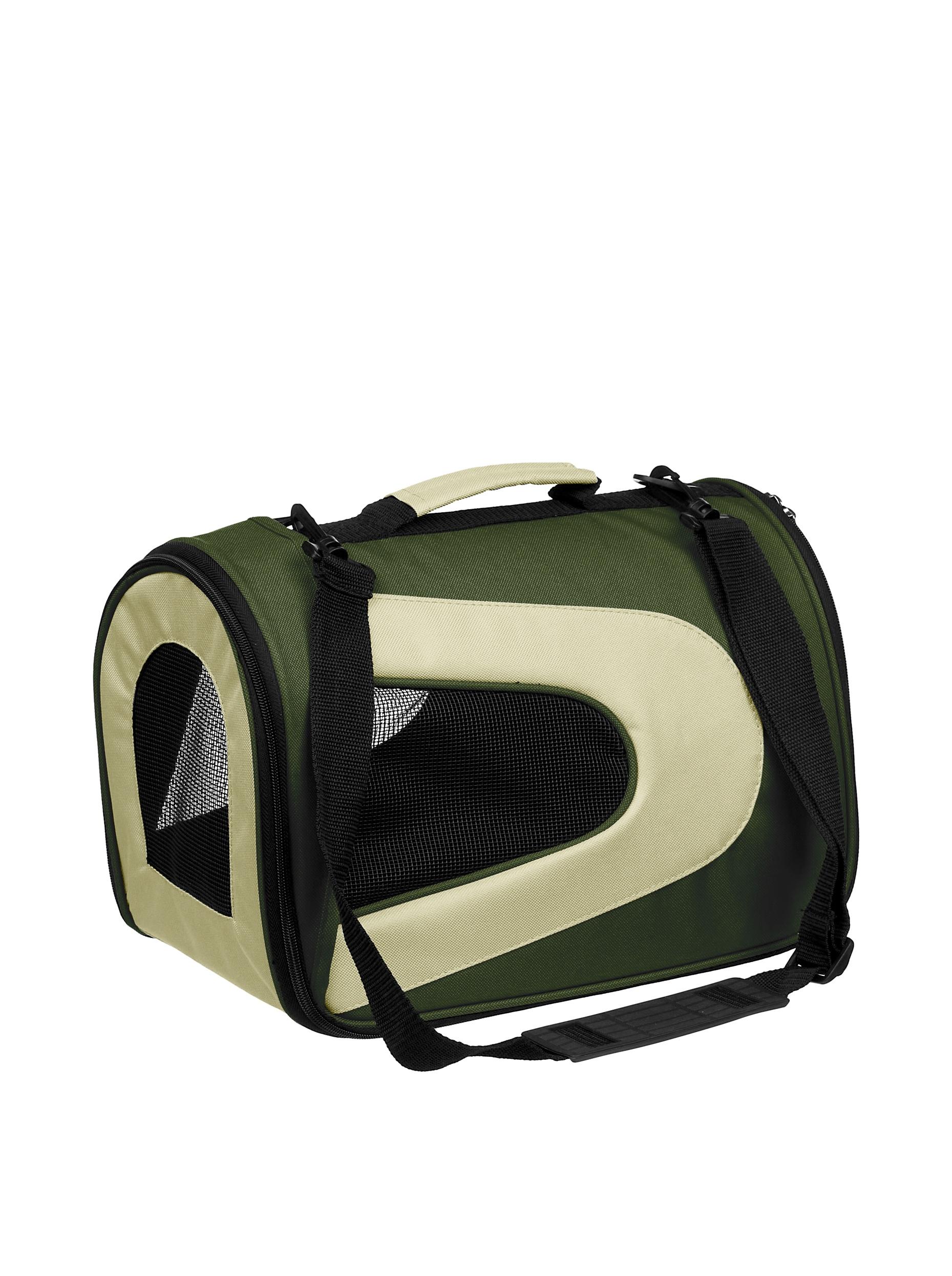 Pet Life Sporty Mesh Carrier (Green/Khaki)