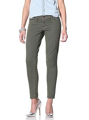SOLD Denim Women's Spring Street Twill Skinny Jean (Green)