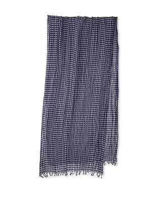 Amicale Men's Gingham Scarf (Navy/Lavender)