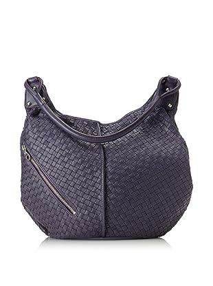 Christopher Kon Women's Matilda Diagonal Zip Bucket Hobo (Purple)