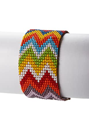 nOir Multicolor Zig Zag Bracelet