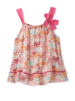 TroiZenfants Girl's Sleeveless Top with Bow (Floral Multi)