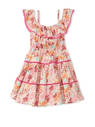 TroiZenfants Girl's Tiered Dress (Floral)