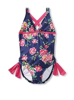 Splendid Girl's In Bloom One Piece Swimsuit (Navy)