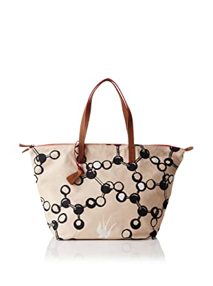 Loquita Women's Molecule Top Zip Tote (Natural)