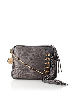 Stella & Jamie Mona Embossed Leather Fringe Shoulder Bag 39