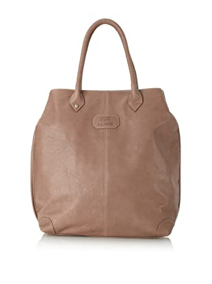 GF Ferre Women's Leather Tote, Taupe