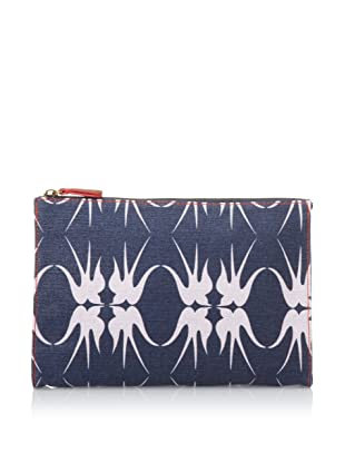 Loquita Women's Birds Cosmetic Case (Blue)