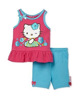 Hello Kitty Girls 2-Piece Shorts Set (Pink/Blue)