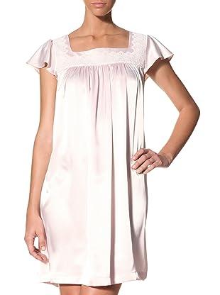 Oscar de la Renta Women's Silky Charmeuse Gown (Light Whisper Pink)