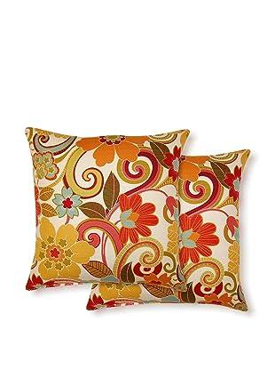 Dakota Set of 2 Zavalia Pillows (Rainbow)
