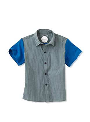 kicokids Boy's Graphic Lego Patchwork Shirt (Grass)