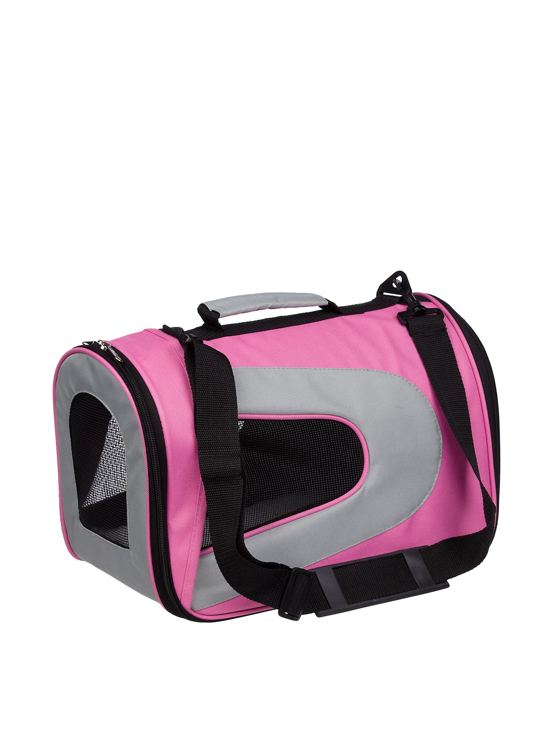Pet Life Sporty Mesh Carrier (Pink/Grey)
