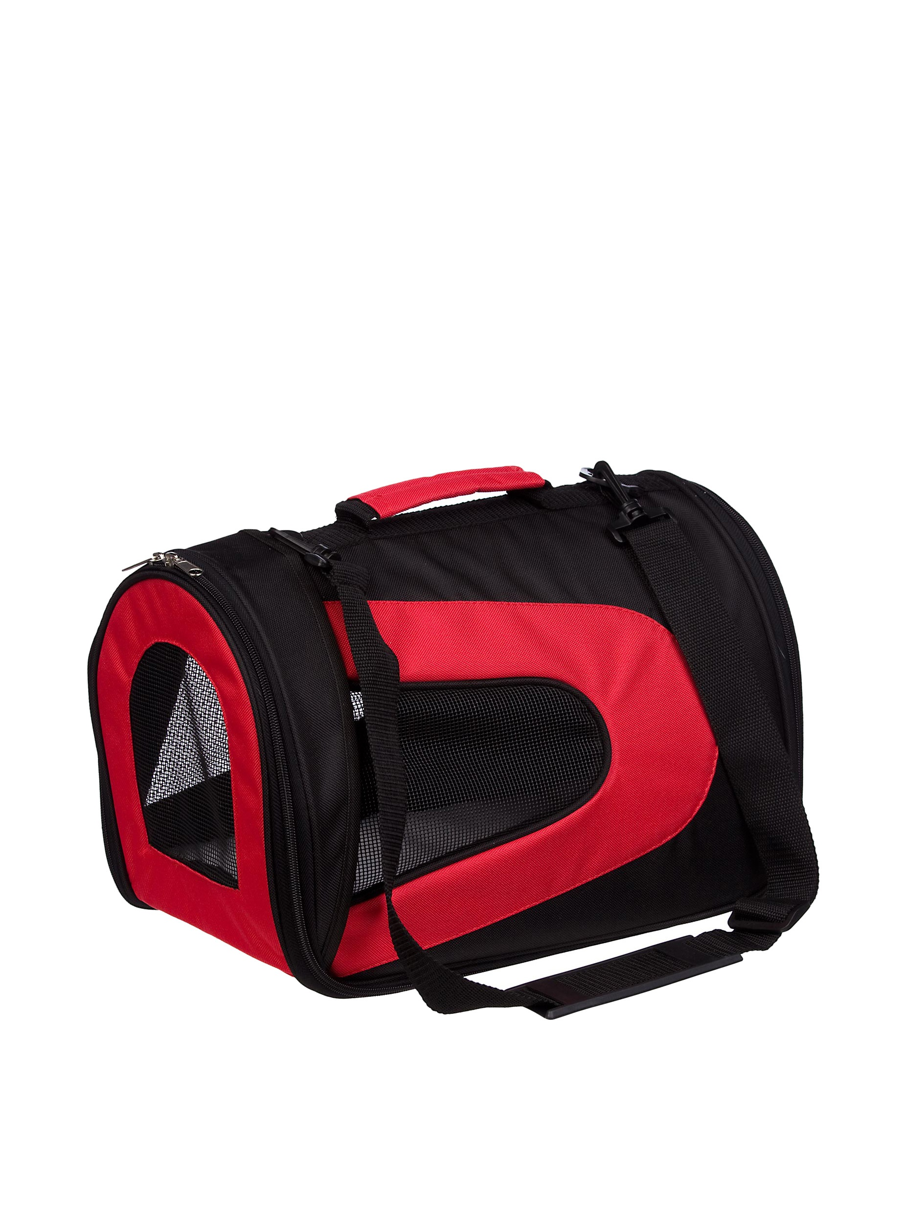 Pet Life Sporty Mesh Carrier (Black/Red)