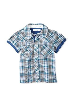 TroiZenfants Boy's Plaid Shirt (Blue)