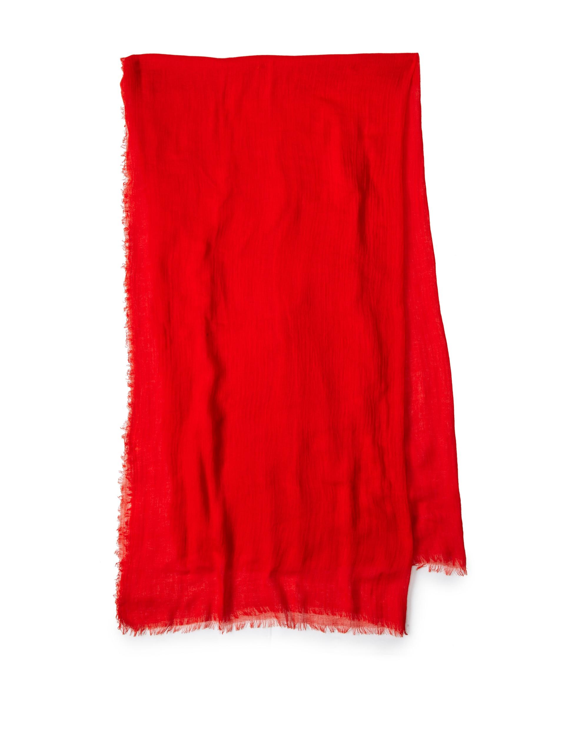 Carolina Amato Women's Cotton Gauze Wrap (Persimmon)