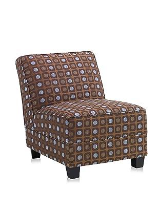 Armen Living Canyon Leisure Chair (Brown/Blue)