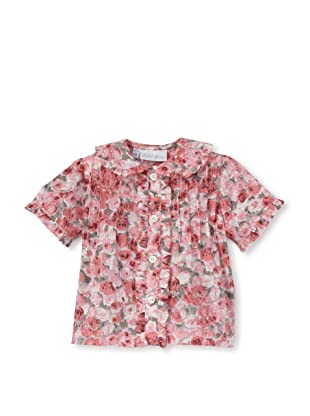 Rachel Riley Baby Floral Pintuck Blouse (Pink)