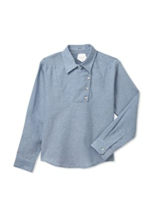 Kicokids Boy's Tuxedo Yolk Long-Sleeve Shirt (Dauphine)
