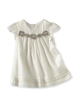 Charabia Girl's Sleeveless Dress (Silver)