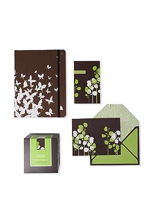 Elum Eucalyptus Collection, Green/Chocolate