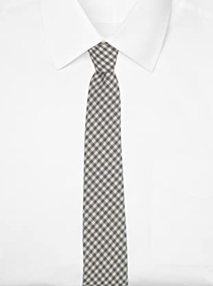 Thom Browne Men's Classic Gingham Tie (Grey/White)