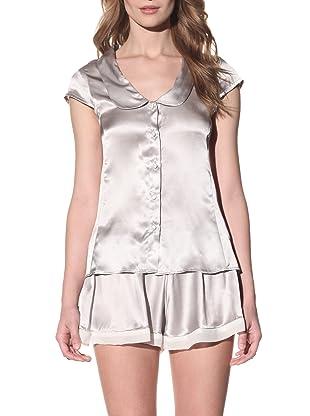 Toute la Nuit Women's Button Front Pajama Top (Rain)
