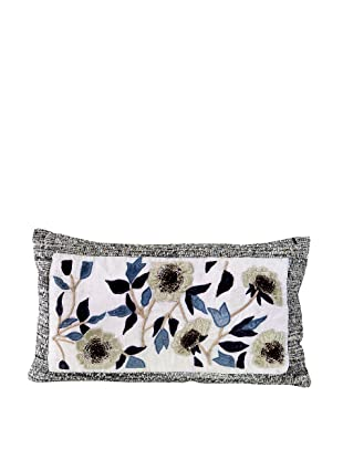 John-Richard Collection Floral Appliquéd and Jeweled Pillow, 12