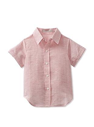 Je suis en CP! Boy's Classic Shirt (Red Stripes)