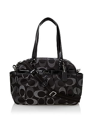 Coach Addison Tri-Color Signature Baby Bag Tote, Black