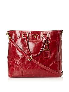 Prada Women's Open Shopping Tote, Rubino